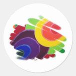 Tropical Energy Spirals Round Sticker
