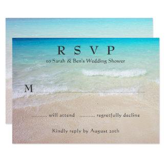 Tropical Event RSVP Enclosure Cards 9 Cm X 13 Cm Invitation Card