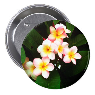 Tropical Exotic Frangipani Flower 7.5 Cm Round Badge