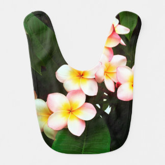 Tropical Exotic Frangipani Flower Bibs