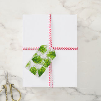 Tropical Exotic Hawaiian Palm Fronds Gift Tags