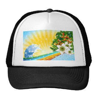 Tropical Exotic Summer Holidays Cap