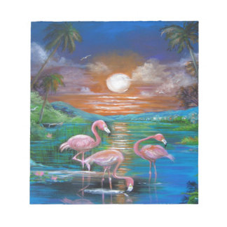 Tropical Famingos Notepad
