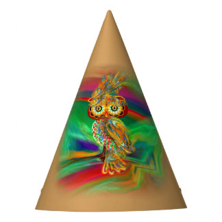 Tropical Fashion Queen Owl Party Hat