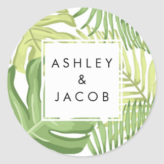 Tropical Favor Tags Tropics Palm Beach Wedding