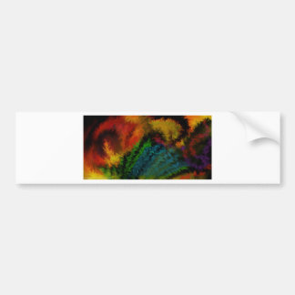 tropical feathers bumper sticker