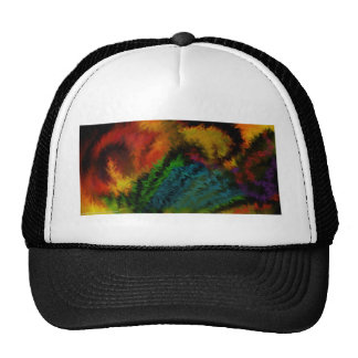 tropical feathers mesh hat
