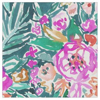 TROPICAL FEELS Floral Watercolor Print Fabric