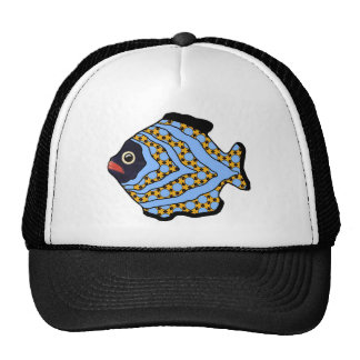 Tropical Fish-02 Blue and Gold Hat