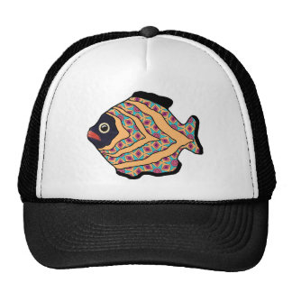 Tropical Fish-13 Gold Red & Green Cap