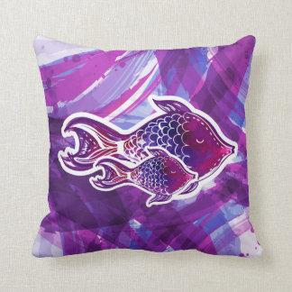 Tropical Fish Abstract Cushion