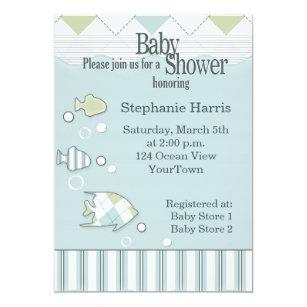 Fishing baby shower invitations zazzle tropical fish baby shower invitation 2 filmwisefo