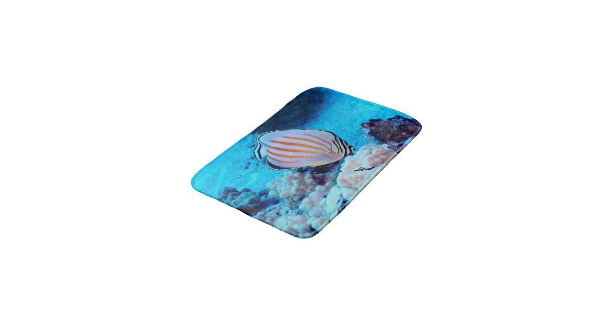 Tropical fish bath mats zazzle for Fish bath mat