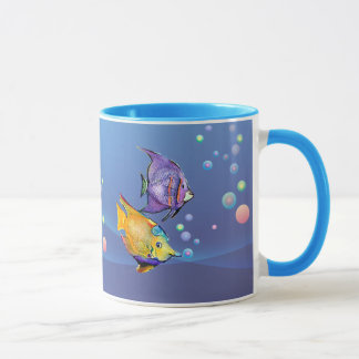 TROPICAL FISH & BUBBLES by SHARON SHARPE Mug