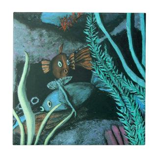 Tropical Fish Coral Reef Ceramic Tile