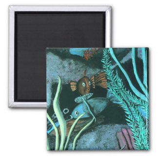 Tropical Fish Coral Reef Magnet