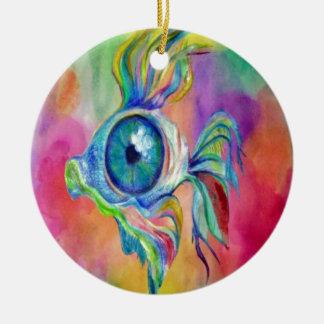 Tropical Fish Design Ceramic Ornament