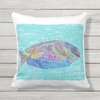 Tropical fish design pillow