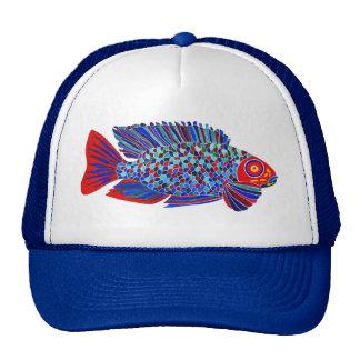 Tropical fish design trucker hat