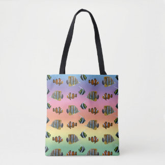 Tropical Fish Frenzy All Over Print Bag (Rainbow)
