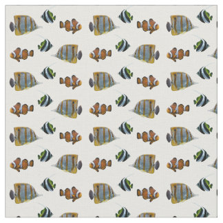 Tropical Fish Frenzy Fabric (choose colour)