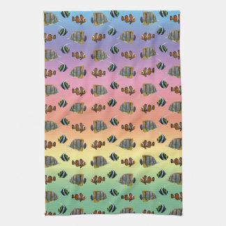 Tropical Fish Frenzy Kitchen Towel (Rainbow)
