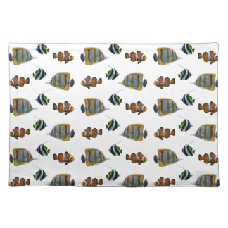 Tropical Fish Frenzy Placemat (choose colour)