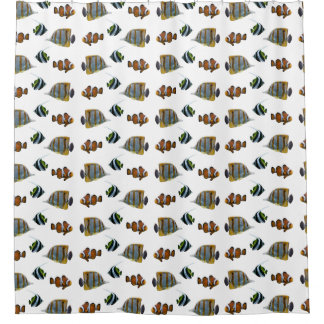 Tropical Fish Frenzy Shower Curtain (choose color)
