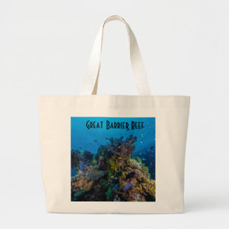 Tropical Fish Great Barrier Reef Coral Sea Large Tote Bag