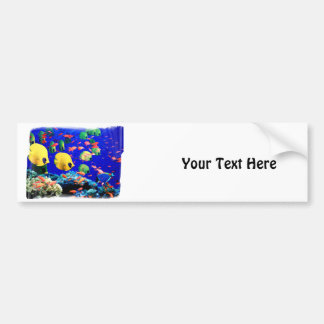 Tropical Fish in Coral Sea Bumper Sticker