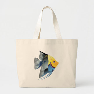 tropical fish large tote bag