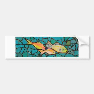 Tropical Fish Mosaic Bumper Sticker