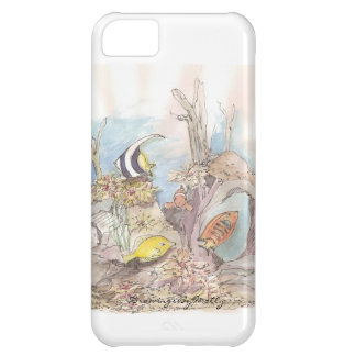 Tropical Fish - original watercolor by Molly iPhone 5C Case