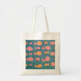 Tropical Fish Painted Pattern Tote Bag