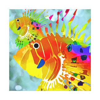 Tropical Fish Stretched Canvas Print