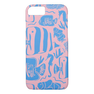 Tropical Fish Tank Illustration iPhone 8/7 Case