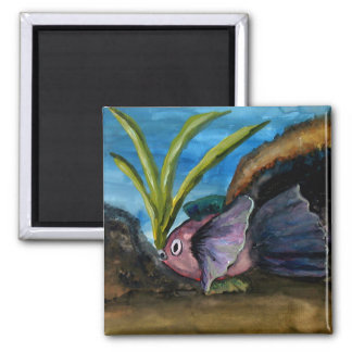 Tropical Fish Watercolor Magnet