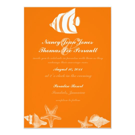 Tropical Fish Wedding Invitation