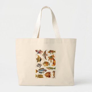Tropical Fishes Large Tote Bag