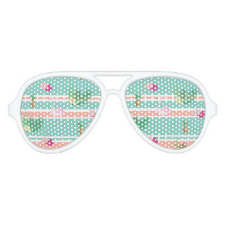 Tropical Flamingo Aviator Party Shades