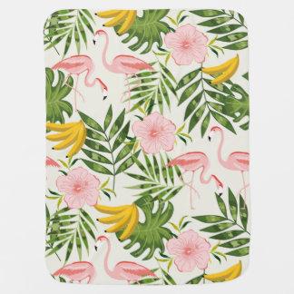 Tropical Flamingo Baby Blanket