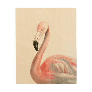 Tropical Flamingo Bird Wood Wall Decor