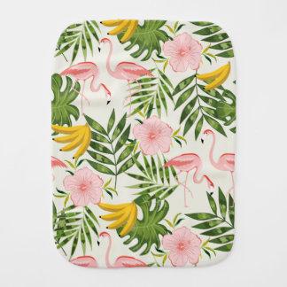 Tropical Flamingo Burp Cloth