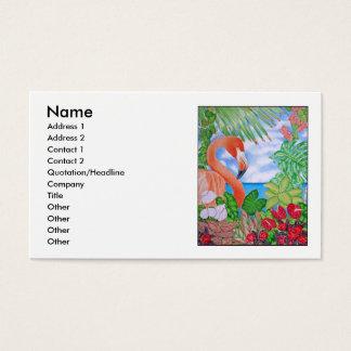 Tropical Flamingo Business Card