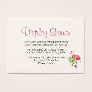 Tropical Flamingo Display Baby Shower Insert