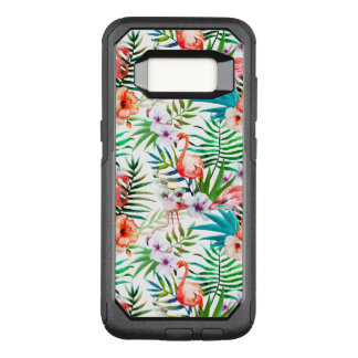 Tropical Flamingo Hibiscus Samsung Galaxy S8 Case