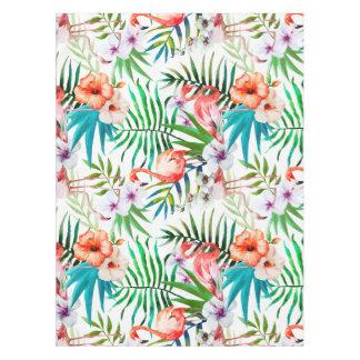 Tropical Flamingo Hibiscus Tablecloth