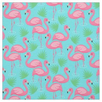 Tropical Flamingo Paradise Whimsical Pink Flamingo Fabric