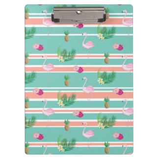 Tropical Flamingo Print Clipboard