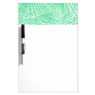 Tropical flat green leaves dry erase board